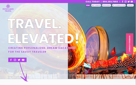 Boutique Travel Agency Website