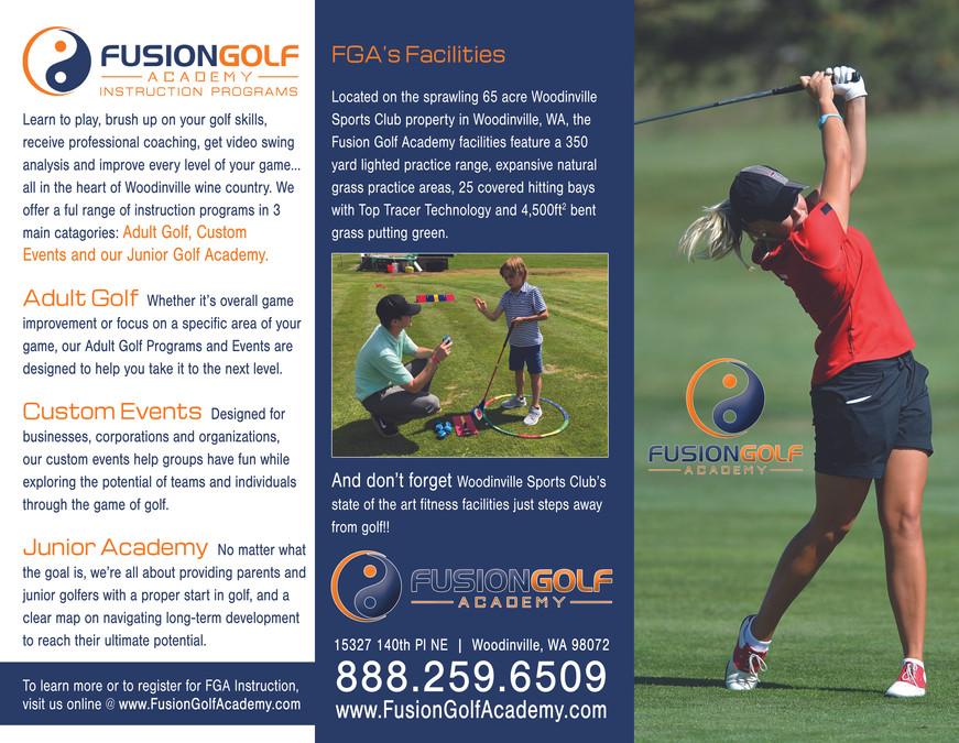 Pro Golf Academy Tri-Fold