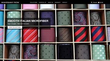 Shopify Site for Mahogany Row