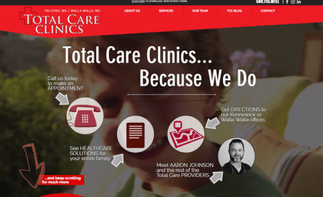 Total Care Clinics Site for a growing Family Medical Practice designe...