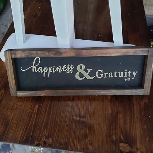 Happiness & Gratuity -HG