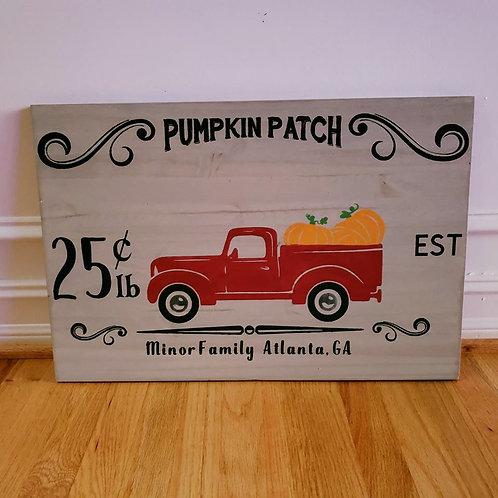 """Pumpkin Patch ~ 14"""" x 24"""""""