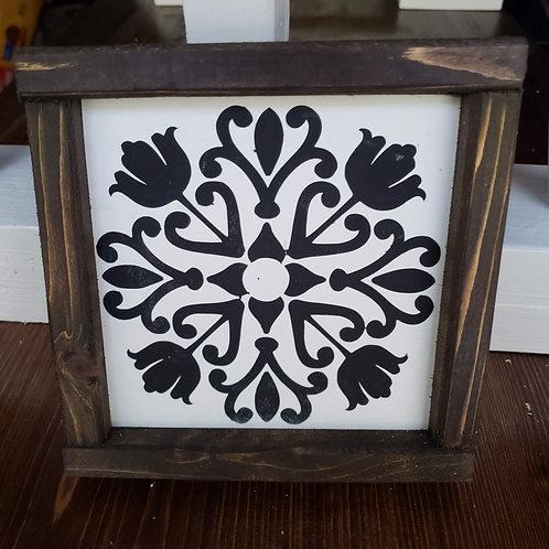 Spanish Tile Wood sign