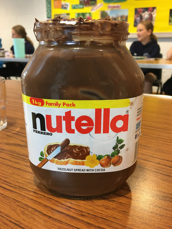 This week we have got through 3kg of Nutella!!!
