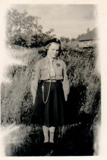 Naomi Bird, the first Queen's Guide in Wargrave and later an assistant leader