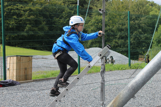 This afternoon we did climbing and high ropes
