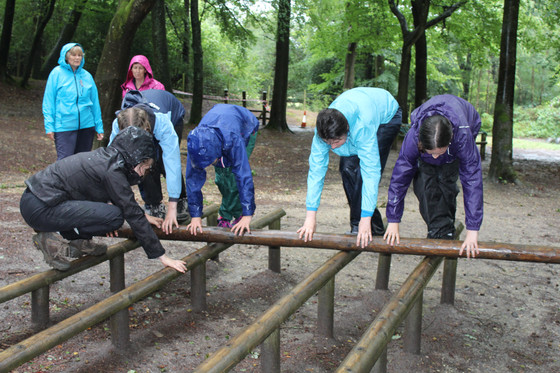 Team building activities in the rain