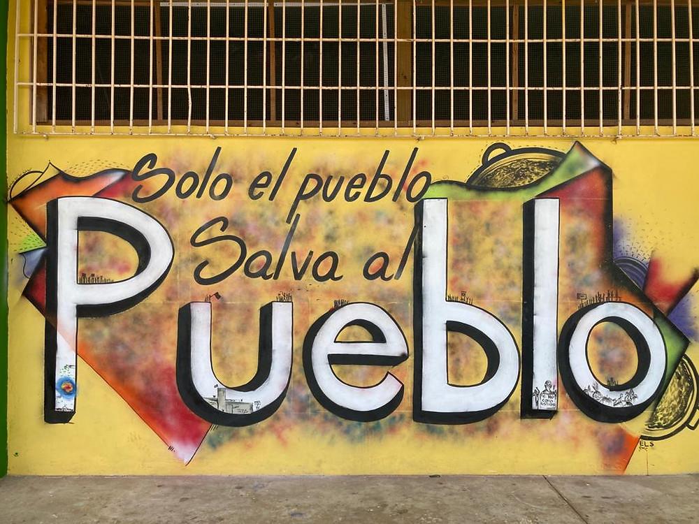 """Mural por Aníbal """"El S"""" Vidal Quintero"""