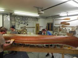 Redwood canoe