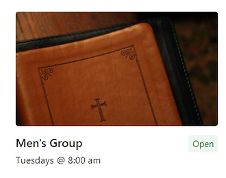 Leather Bible (Men's Group)