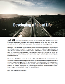 Developing a rule of life booket