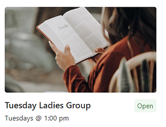 Open Bible (Tuesday's Ladies Group_
