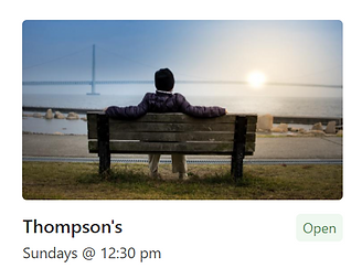 Person on a park bench (Thompson Group)