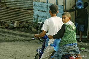 two men on a mototrcycle