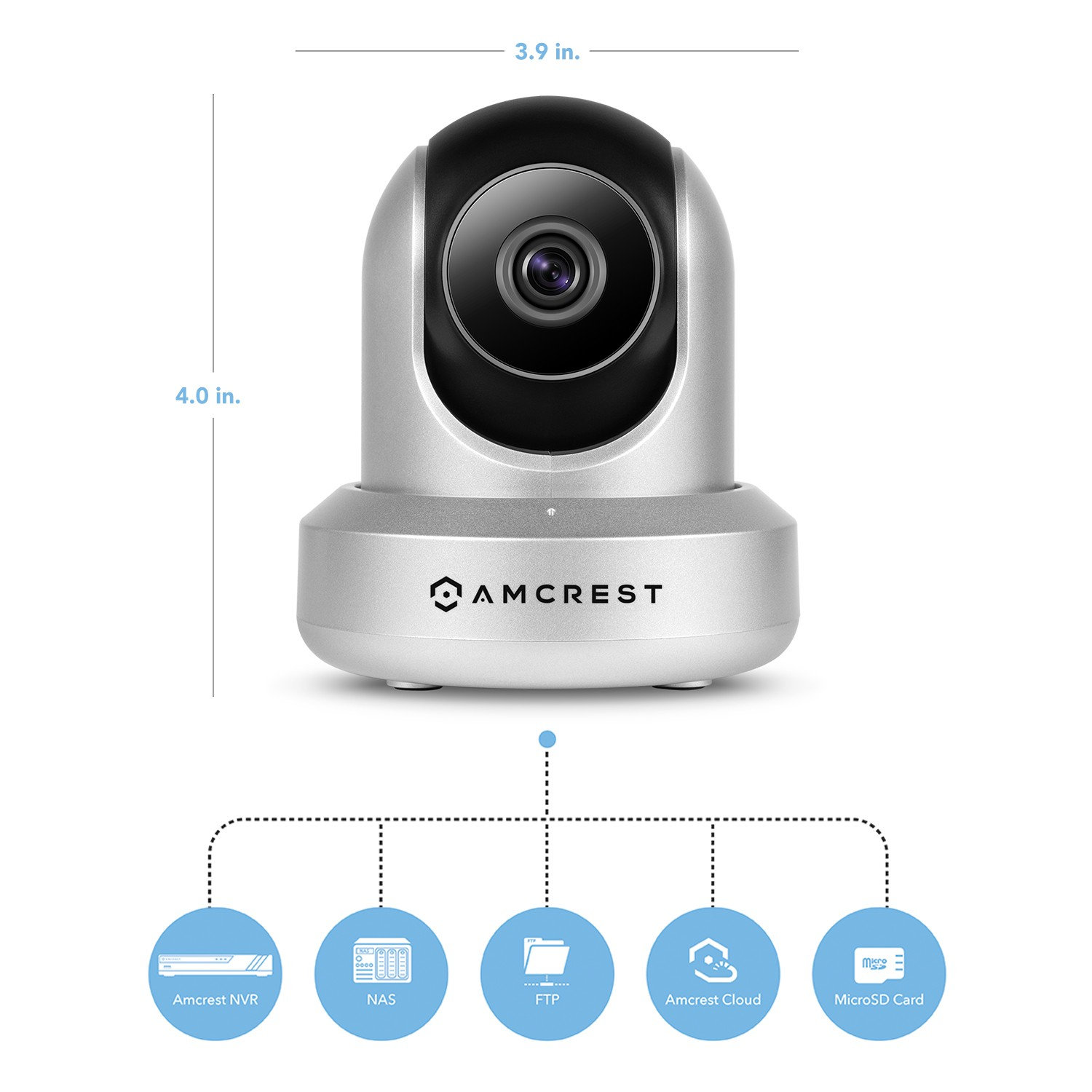 HD 720P WiFi Video Monitoring Security IP Camera (Silver