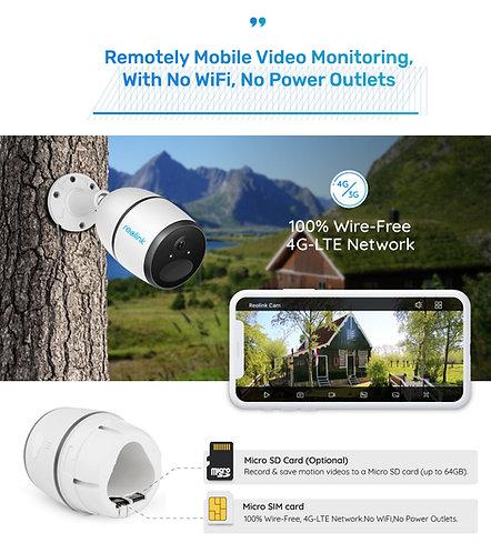 REOLINK GO  SOLAR 4G Cloud IP Outdoor Battery Camera.
