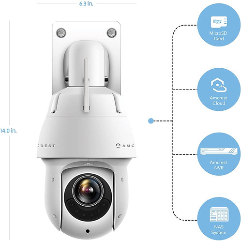 Amcrest WiFi Outdoor IP Camera, Wireless (25x Optical),100Meters Night Vision.