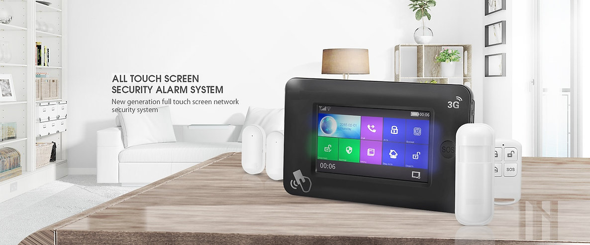 All Touch Screen security Alarm System