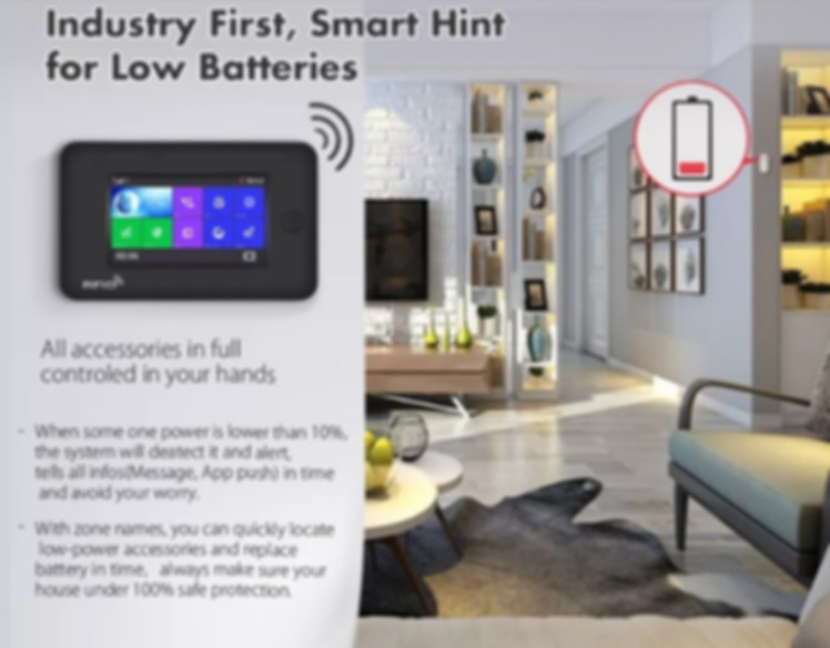 Industry First, Smart Hint For Low Batteries.