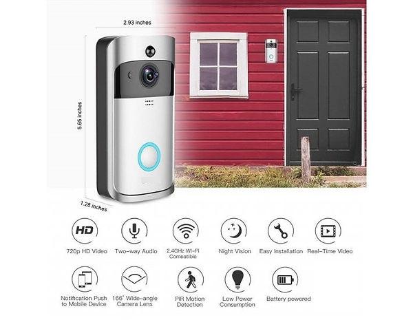 video doorbell mounted