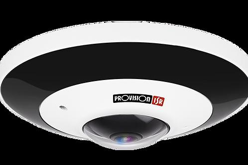 IR Vandal-Proof Fish Eye 6MP IP PoE Camera