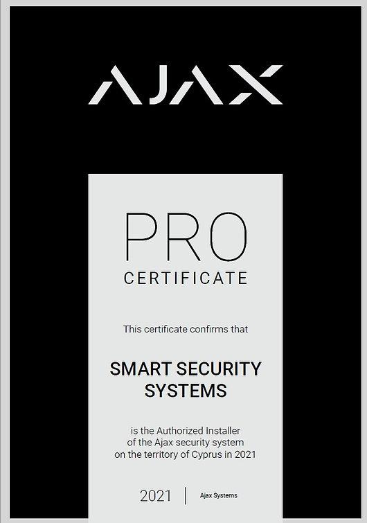 Authorized Ajax Certificate