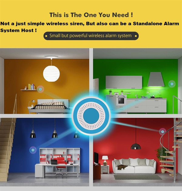 ROSA Wireless Standalone Alarm Siren Multi-function Home Security Alarm Systems