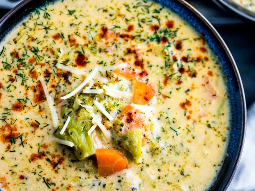 Cheesy Broccoli Hot Pot Soup
