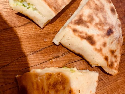 Paula McIntyre - Potato Bread filled with Kilmorá and spring onion