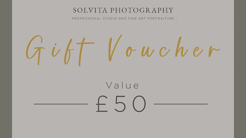 £50 Portrait Session Gift Certificate