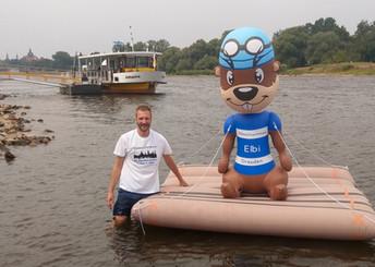 Pressetermin vor dem Elbeschwimmen 2019
