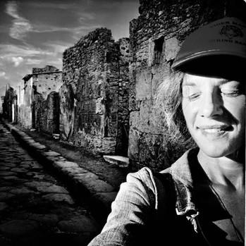KidBess visiting Pompeii
