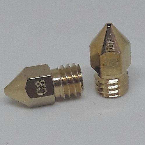 Bico impressora 3D mk8 - 0.8mm - 1.75 (2 un)
