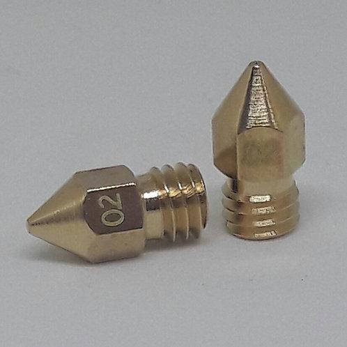 Bico impressora 3D mk8 - 0.2mm - 1.75 (2 un)
