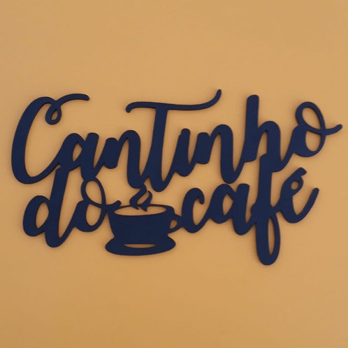 Quadro 30x16 Cantinho do Café