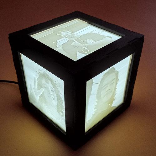 Cubo Lithophane com 5 fotos