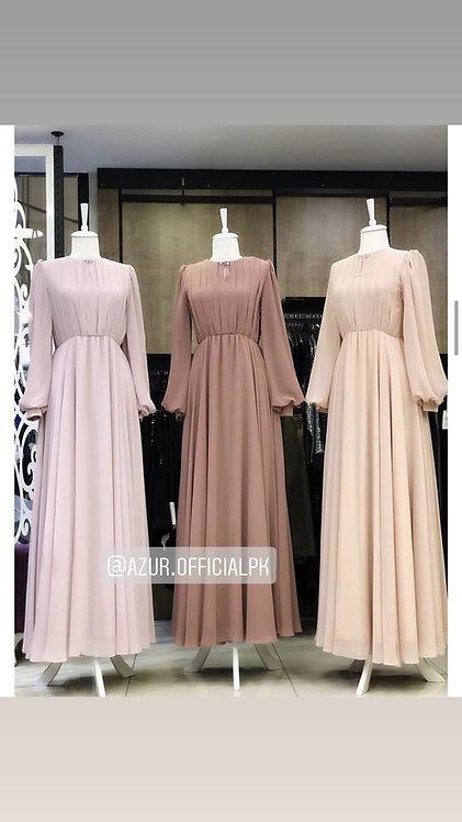 Pleated body Dress