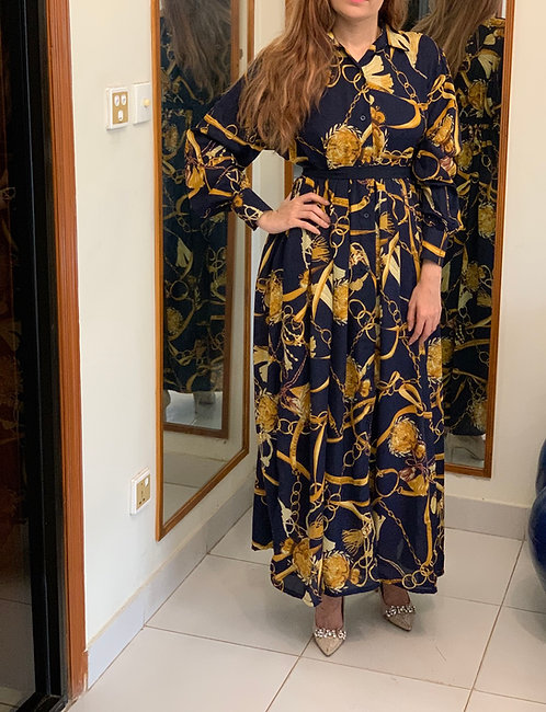 Printed Gown Dress