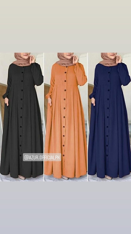 Abaya with black buttons