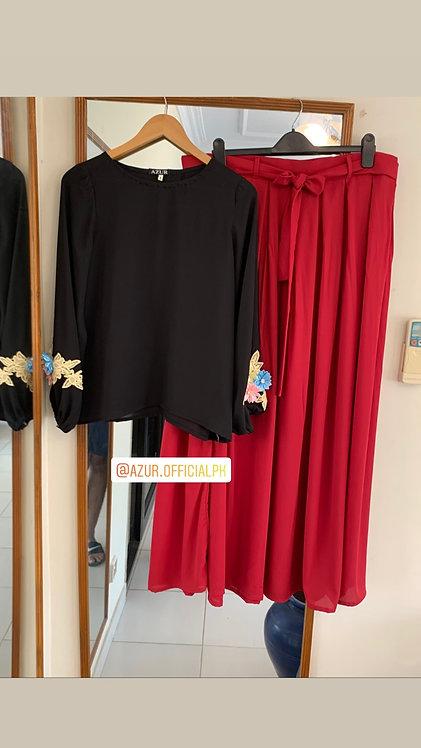 Black Shirt with skirt