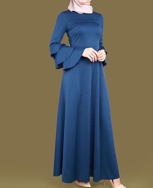 Blue Silk Frock