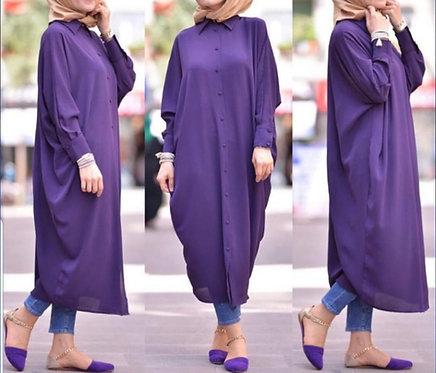 Purple Kimono Style Shirt