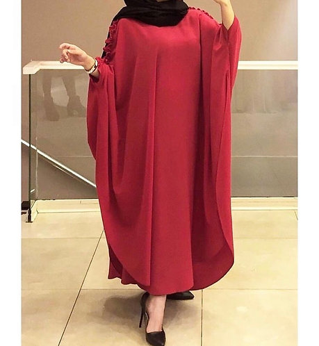 Red Cape Abaya