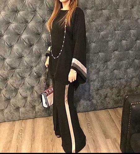 Black Shirt with Bell Bottoms