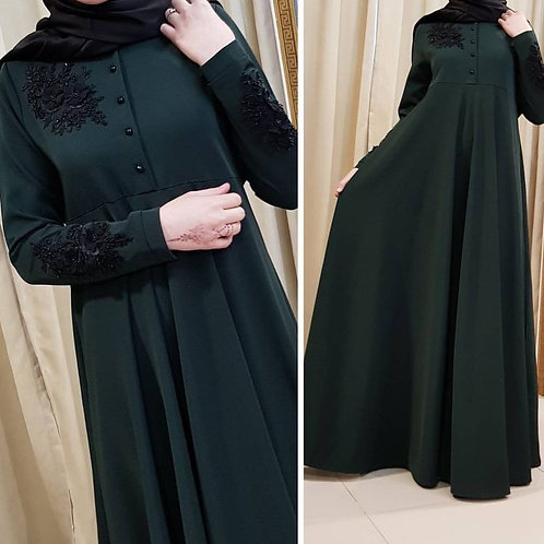 Dark Green Abaya
