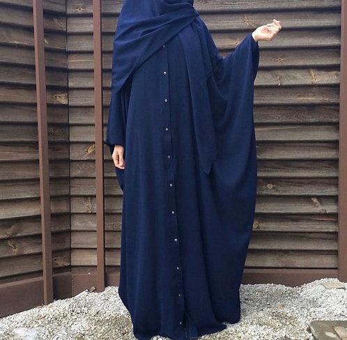 Blue Free Size Abaya