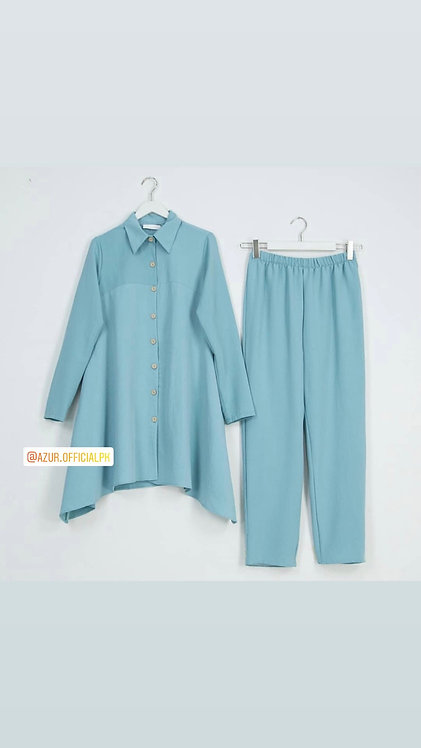 Side drop shirt with trousers