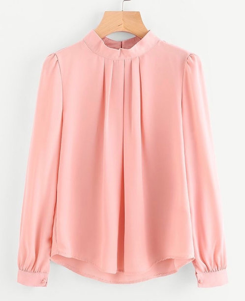 Pink Short Shirt with Pleats
