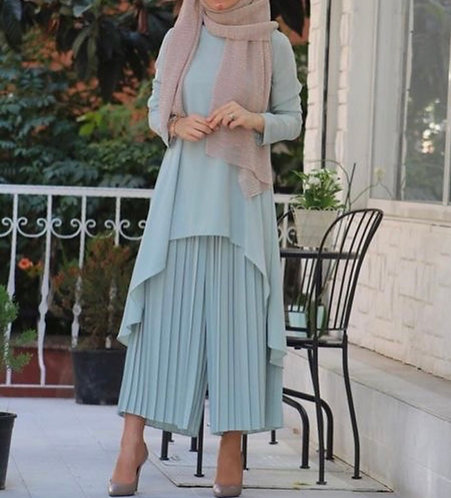 Dress with Pleated Trousers