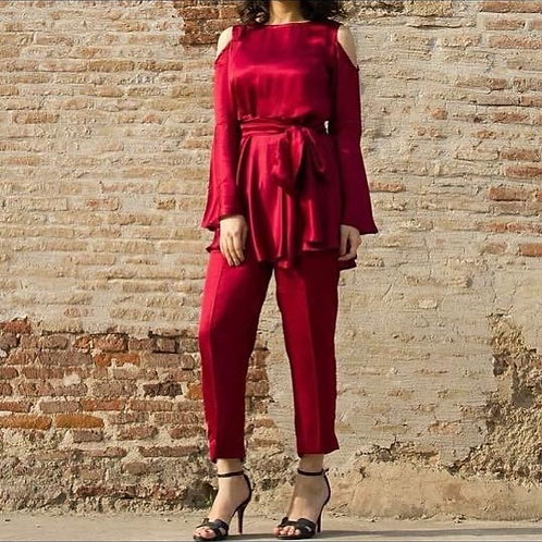 Red Silk Suit